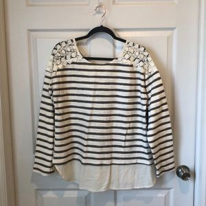 Striped Multimedia Top